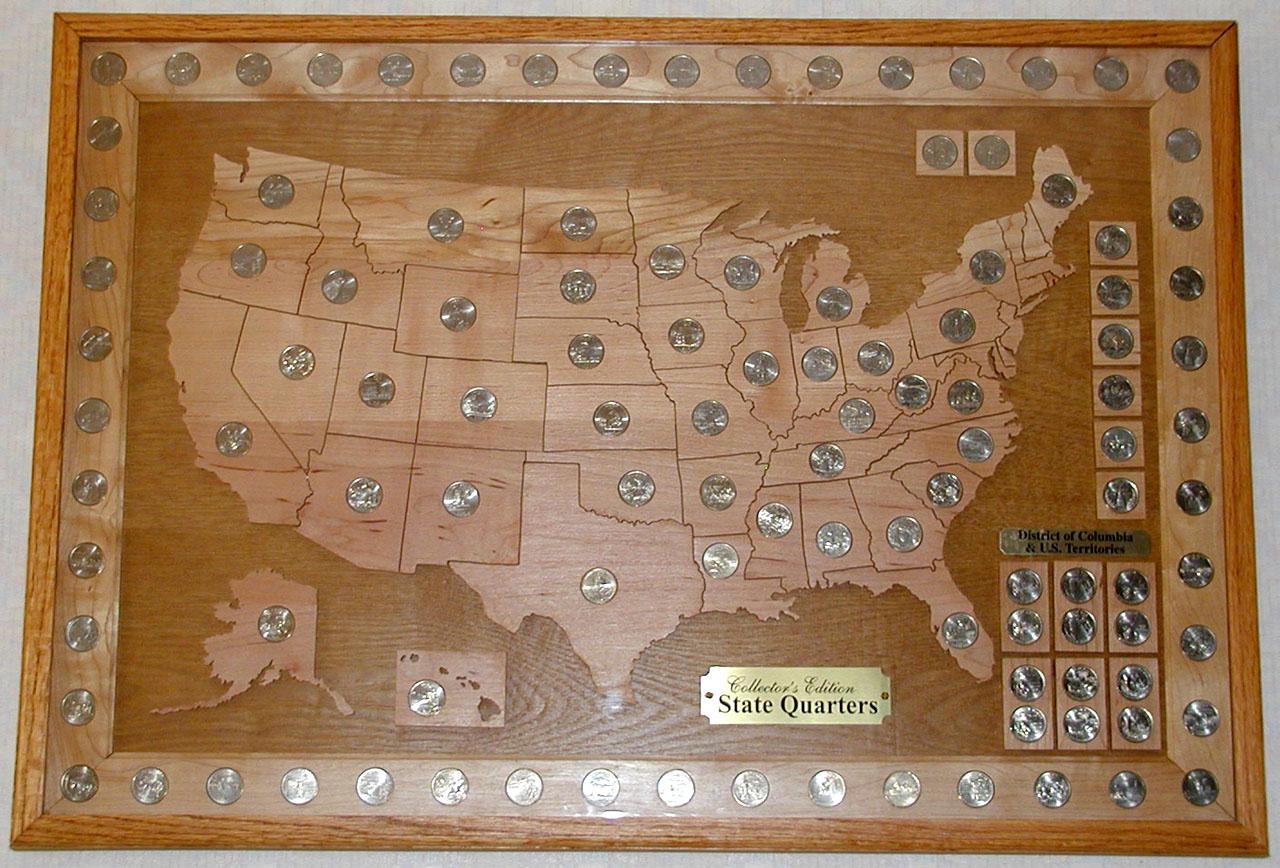Scrollsawing Marvins Woodshop Map Of Us Quarters